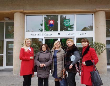 Návšteva partnerov z Ukrajiny na MsÚ Nové Zámky