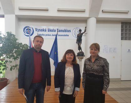 Návšteva partnerov z Ukrajiny vo VŠ Danubius Sládkovičovo