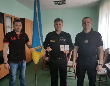 Návšteva patrolnej polície v Ternopole, Ukrajina