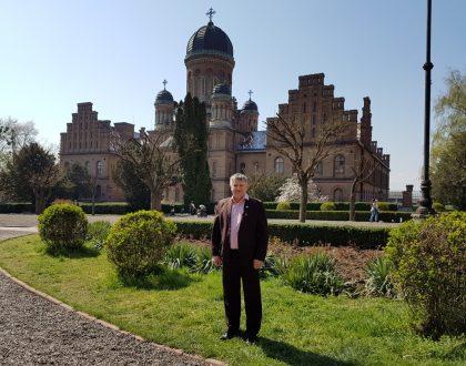 Návšteva univerzity v Černivci, Ukrajina