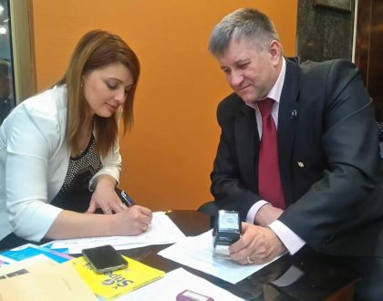 Podpísanie dohody s pedagogickou Univerzitou Slavyansk, Ukrajina