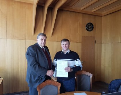 Podpísanie zmluvy s univerzitou v Kyjeve, Ukrajina